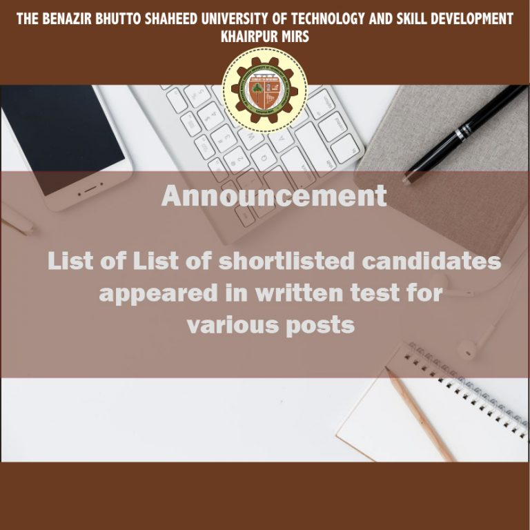 List of Shortlist Candidates Various Posts